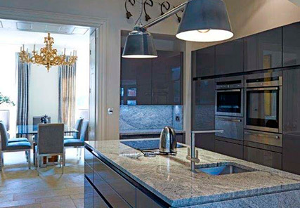 Typical kitchen in a Burghley development